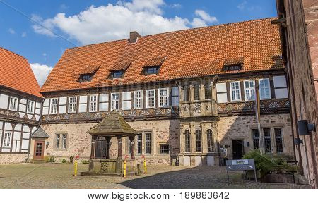 BLOMBERG, GERMANY - MAY 22, 2017: Courtyard of the castle of Blomberg in Germany