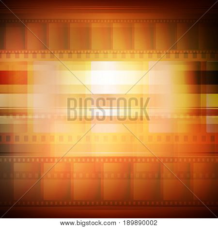 Old movie background sepia toning, vector illustration for your design