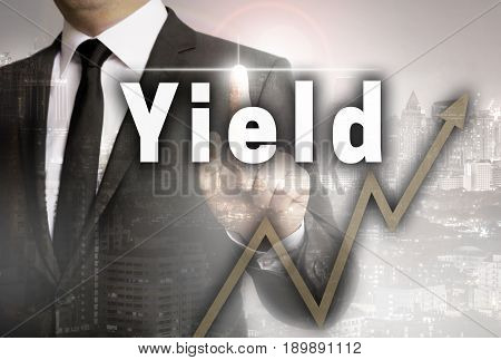 Yield is shown by businessman concept picture