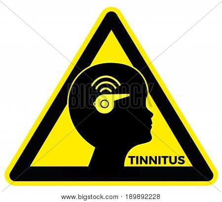 Tinnitus in Children. Concept sign of child who is suffering from ringing and buzzing sounds in the ears