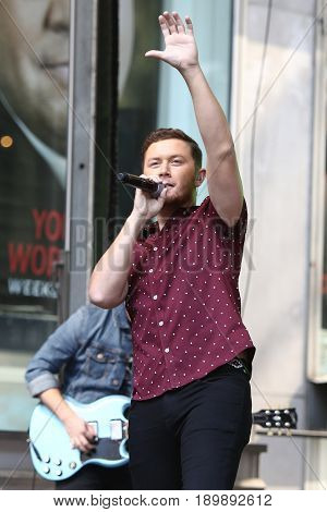 NEW YORK-JUN 2: Scotty McCreery performs on FOX and Friends' All-American Concert Series on June 2, 2017 in New York City.