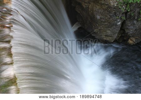 Cascade of the trentino with crystalline water