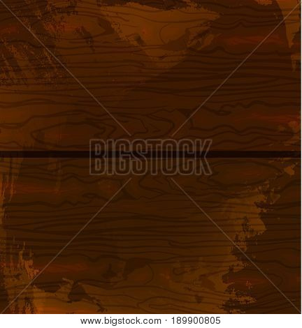 Wood texture template. Vector illustration. Brown wood. Grunge textured backdrop