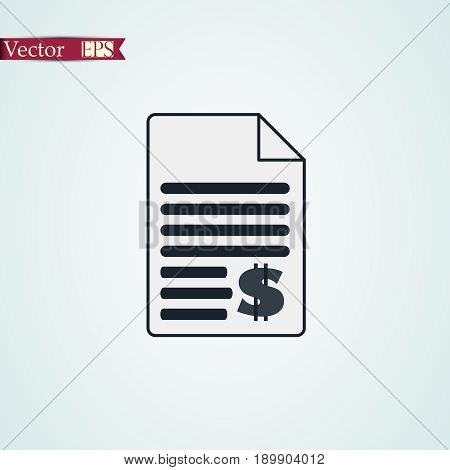 tax icon stock vector illustration flat design