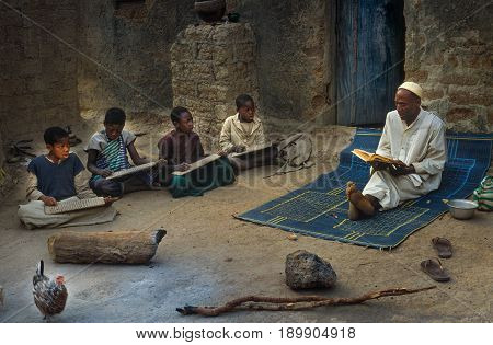 Mali, West Africa - January 25, 1992: Koranic School