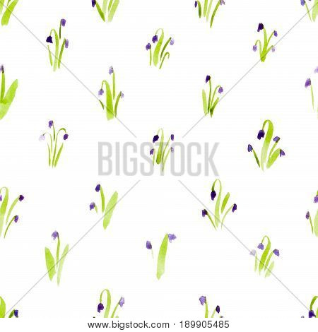 Calico Watercolor Pattern. Comely Seamless Cute Small Flowers For Fabric Design. Calico Pattern In C