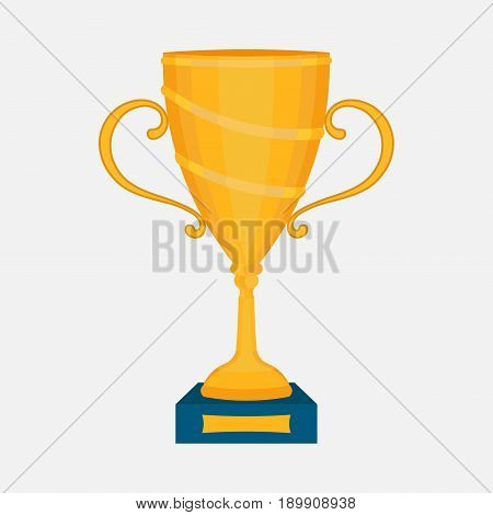 Gold Cup the award winner first place in the competition slim design vector image