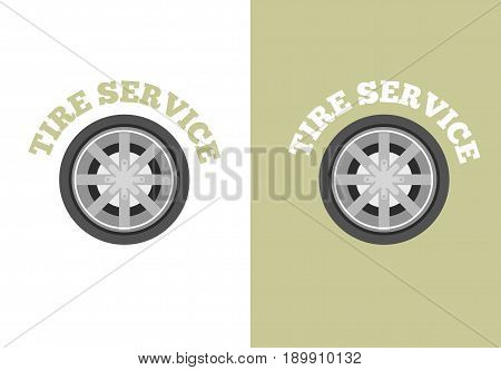 Automobile tire service vector logo. Tire shop icon for business.