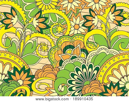 Hand drawn colorful zen pattern with mandalas for decorate dishes bags case notebook stationery fabric print footwear shoes. eps 10.