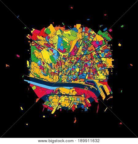Bratislava, Slovakia, Colorful Artmap