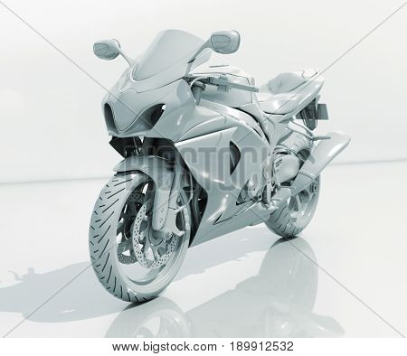 3d render: Model of Toy Bike on White Background