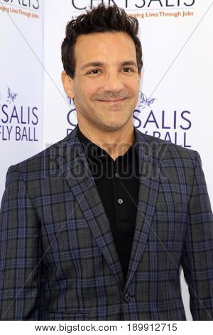 LOS ANGELES - JUN 3:  George Kostsiopoulos at the 16th Annual Chrysalis Butterfly Ball at the Private Estate on June 3, 2017 in Los Angeles, CA