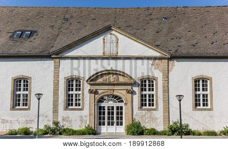 White Facade Of An Old Building In Detmold