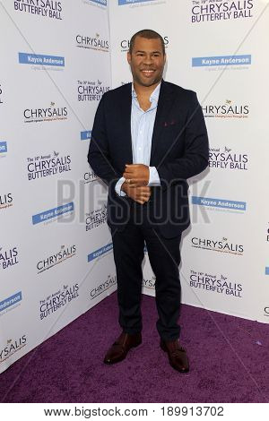 LOS ANGELES - JUN 3:  Jordan Peele at the 16th Annual Chrysalis Butterfly Ball at the Private Estate on June 3, 2017 in Los Angeles, CA