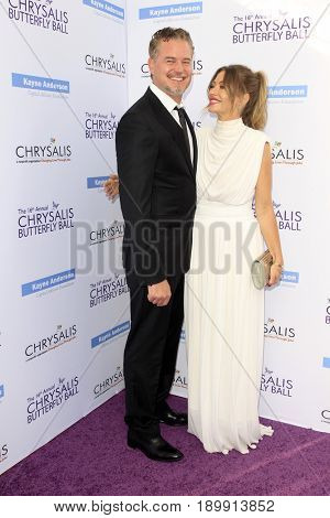 LOS ANGELES - JUN 3:  Rebecca Gayheart, Eric Dane at the 16th Annual Chrysalis Butterfly Ball at the Private Estate on June 3, 2017 in Los Angeles, CA