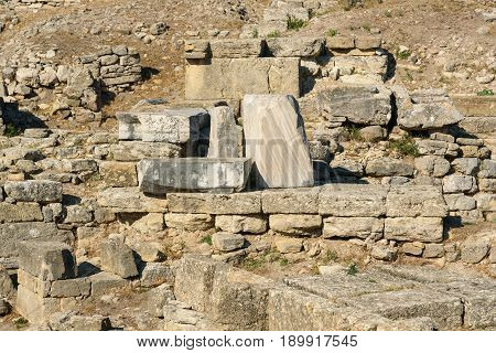 The South Gate In Ancient City Troy. Turkey