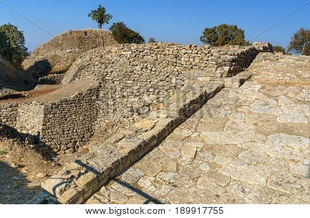 The Ramp In Ancient City Troy. Turkey