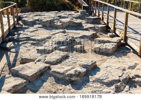 Ruin Of Ancient City Troy. Turkey