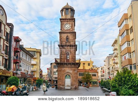 Historical Clock Tower In Canakkale, Turkey