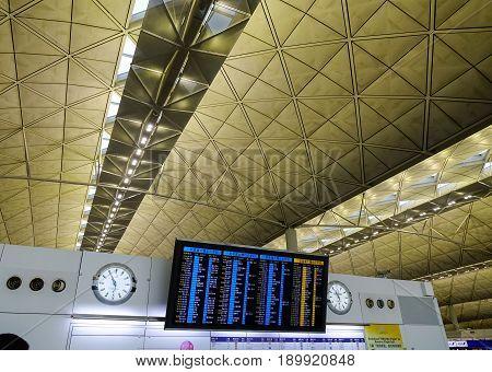 Inside Of Hong Kong International Airport