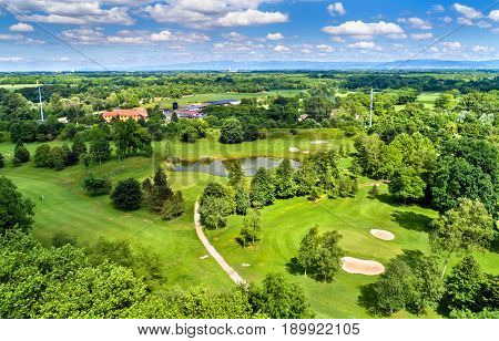 Terrain of the Strasbourg Golf Club - Bas-Rhin, France