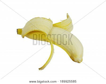 banana peel isolated on white background, high resolution