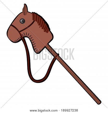 Isolated Horse Stick