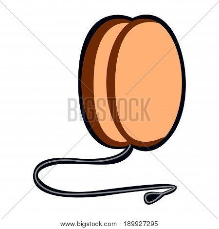 Isolated Yo-yo Toy