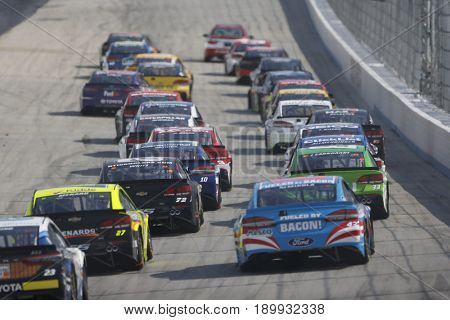 June 04, 2017 - Dover, DE, USA: The Monster Energy NASCAR Cup Series teams take to the track for the AAA 400 at Dover International Speedway in Dover, DE.