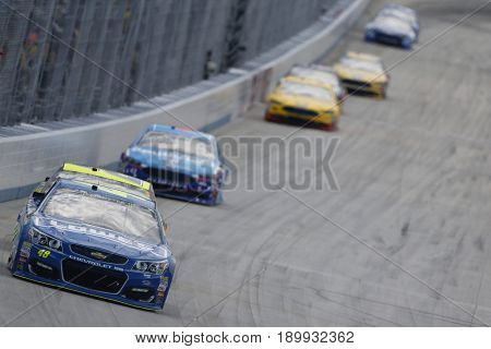 June 04, 2017 - Dover, DE, USA: Jimmie Johnson (48) leads the field for the AAA 400 at Dover International Speedway in Dover, DE.