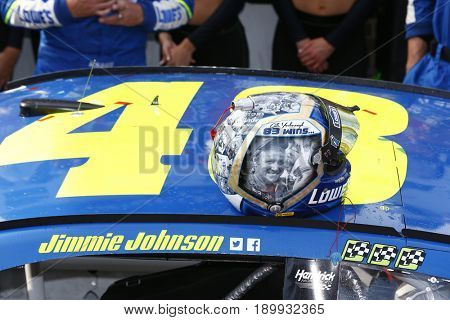 June 04, 2017 - Dover, DE, USA: Jimmie Johnson (48) wins the AAA 400 Drive for Autism at Dover International Speedway in Dover, DE.