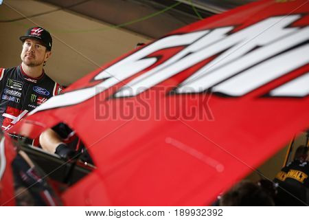 June 03, 2017 - Dover, DE, USA: Kurt Busch (41) climbs into his car before practice for the AAA 400 at Dover International Speedway in Dover, DE.