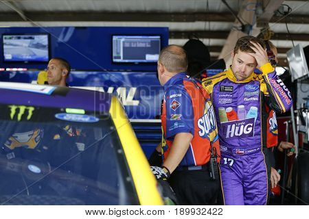 June 03, 2017 - Dover, DE, USA: Ricky Stenhouse Jr. (17) climbs into his car before practice for the AAA 400 at Dover International Speedway in Dover, DE.