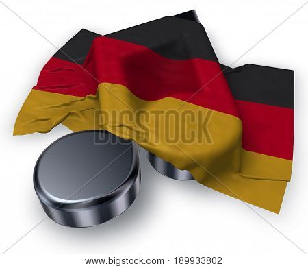music note symbol and german flag - 3d rendering