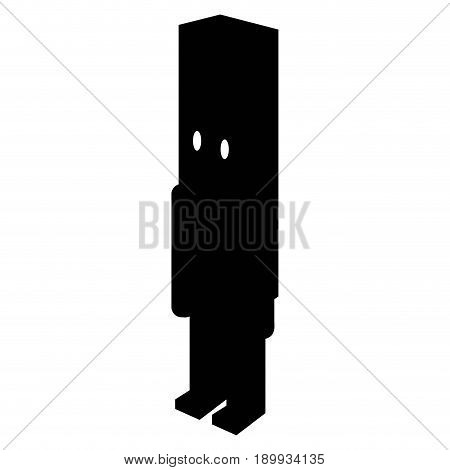 Isolated Nutcracker Silhouette