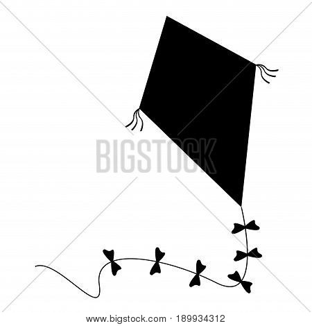 Isolated Kite Toy Silhouette