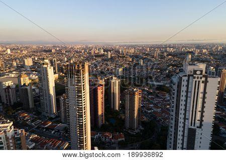Aerial View of Tatuape, Sao Paulo, Brazil