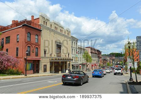 BANGOR, ME, USA - MAY 20, 2016: Bangor Opera House at Main Street in downtown Bangor, Maine, USA.