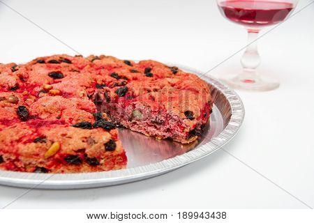 Schiaccia briaca (drunk cake) from Elba Italy