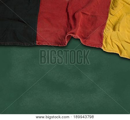flag of the Federal Republic of Germany on chalkboard
