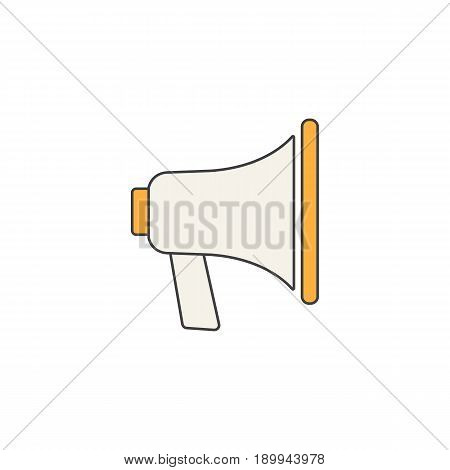 Loudspeaker line icon, bullhorn sign, megaphone, social media, filled vector graphics, a colorful linear pattern on a white background, eps 10.