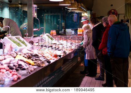 June 6th, 2017, Cork, Ireland - English Market, a municipal food market in the centre of Cork, famous tourist attraction of the city.