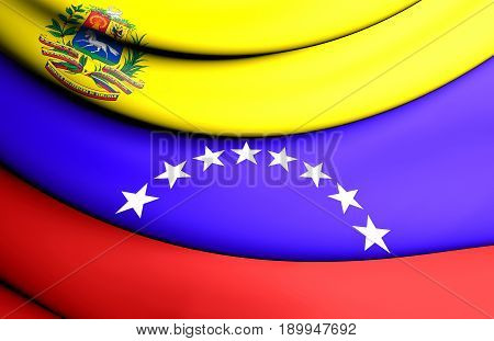 3D Flag Of The Venezuela.