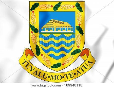 3D Tuvalu Coat Of Arms.