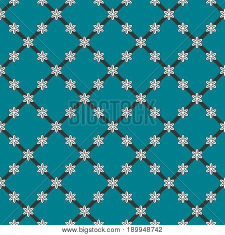 Flowers Background, Vector Seamless Pattern