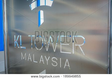 Kuala Lumpur, Malaysia - March 9, 2017: Menara Kuala Lumpur Tower is a commmunication tower and the highest viewpoint in Kuala Lumpur that is open to the public