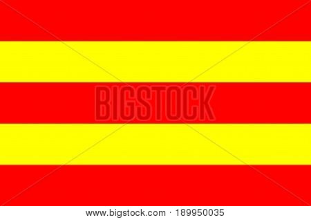 Flag of Avesnes-sur-Helpe is a commune in the Nord department in northern France. Vector illustration
