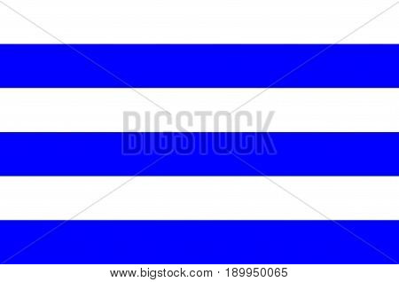 Flag of Dunkirk is a commune in the Nord department in northern France. Vector illustration