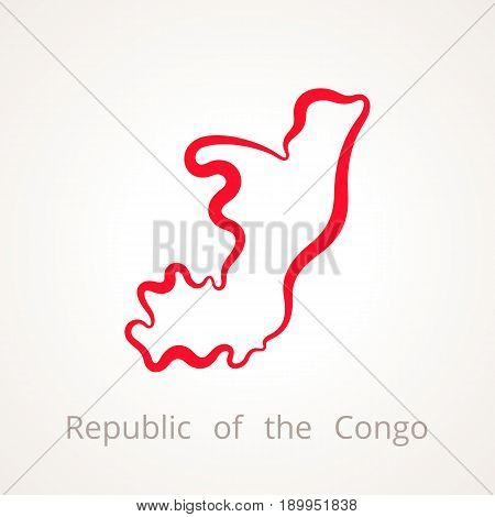 Republic Of The Congo - Outline Map