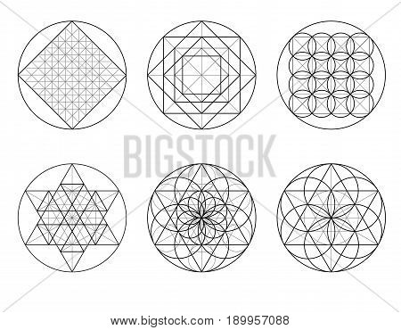 Sacred Geometry. Crossing Lines.